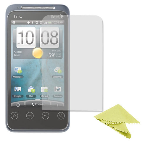 Skque Clear Screen Protector for HTC EVO Shift 4g