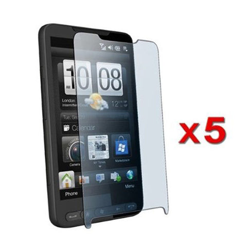 Skque 5 Pack Premium Crystal Clear LCD Screen Protector for HTC HD2