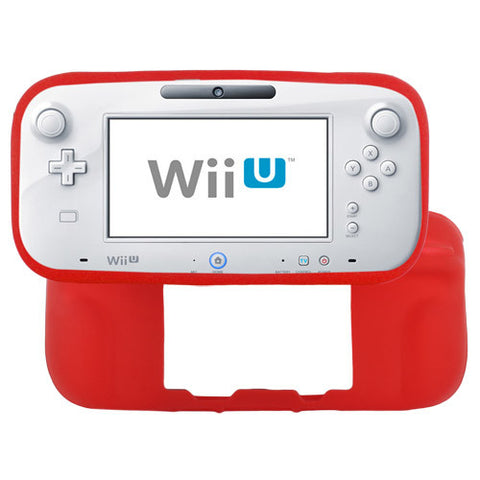 Skque Soft Silicone Skin Back Case Cover for Nintendo Wii U Gamepad Remote Controller, Red