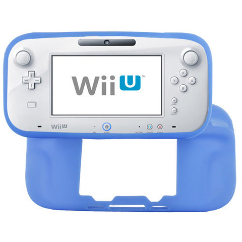 Skque Soft Silicone Skin Back Case Cover for Nintendo Wii U Gamepad Remote Controller, Blue