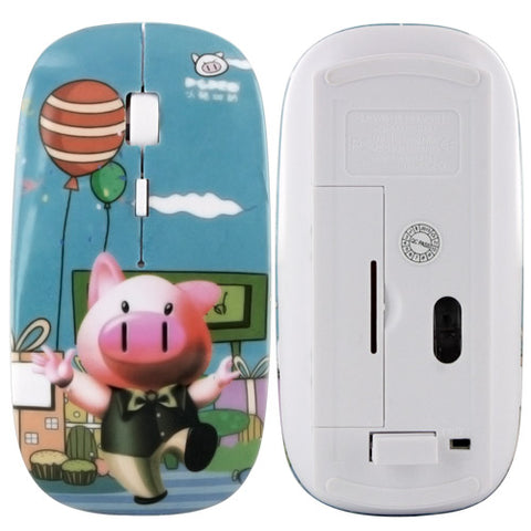 2.4G Wireless Cartoon Optical Mouse for Apple Macbook