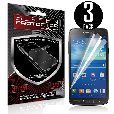 Galaxy S4 Active I9295 Screen Protector,Skque® Anti Scratch Screen Protector for Samsung Galaxy S4 Active I9295 [3 PACK]