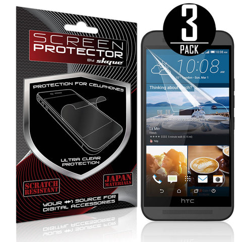Skque® 3 Pcs Anti-Glare Screen Protector for HTC One M9