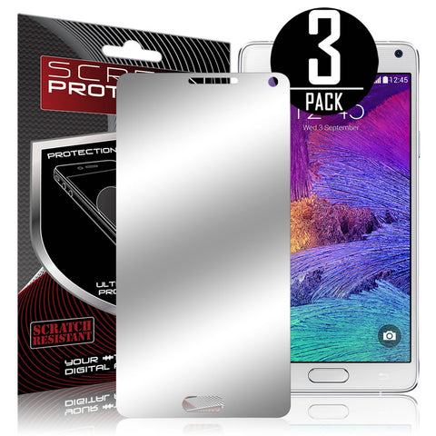 Galaxy Note 4 Screen Protector, Skque® Mirror Finish Screen Protector for Samsung Galaxy Note 4, 3 Pack
