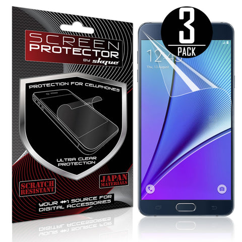Galaxy Note 5 Screen Protector, Skque® Anti Scratch Screen Protector for Samsung Galaxy Note 5, 3 Pack