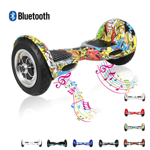 "Skque® 10"" Hoverboard Two Wheel Self Balancing Scooter Electric with Speaker"