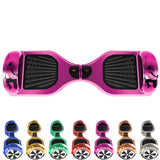 "Skque® 6"" Hoverboard with LED - (The Original) Color Plated Chrome"
