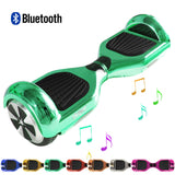 "Skque® 6"" Hoverboard with Bluetooth Speaker and LED - (The Original) Color Plated Chrome"