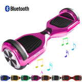 "Skque® 6"" Hoverboard with Bluetooth Speaker and LED and Bumper - (The Original) Color Plated Chrome"