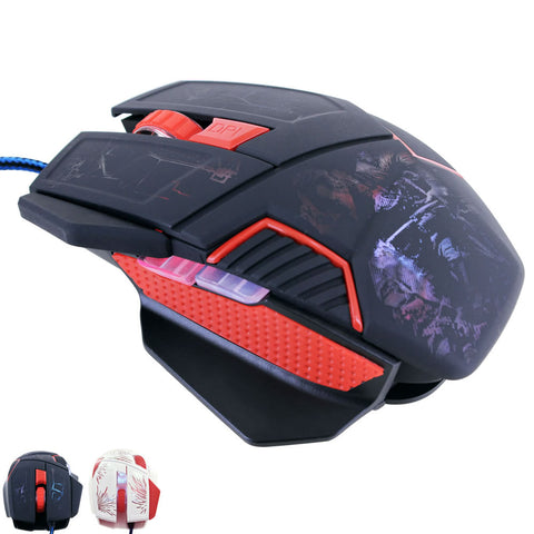 Skque® Wired USB 4 Button Optical Gaming Mouse 800-2400DPI