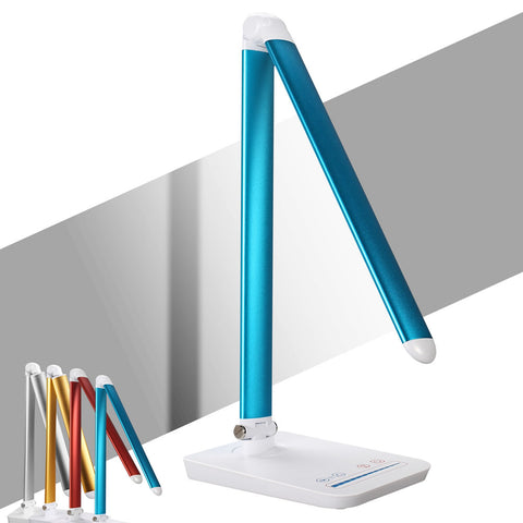 Skque® SL589 Dimmable LED Desk Lamp 9W with USB Charging Port