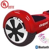 "Skque® UL2272 6.5"" 2 Wheel Smart Self Balance Electric Scooter with Wireless Bluetooth Speaker and LED Lights"