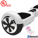 "Skque® 6.5"" UL2272 Two Wheel Smart Self Balancing Electric Scooter with Bluetooth Speaker, White"