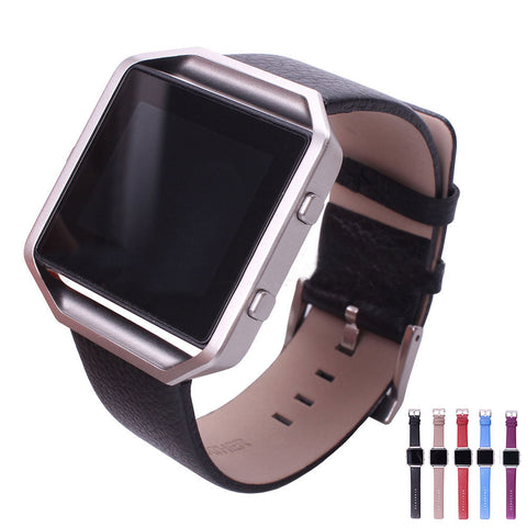 Skque® PU Leather Replacement Bands with Metal Clasp, Large for Fitbit Blaze