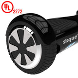 "Skque® 6.5"" Two Wheel Smart Self Balancing Electric Scooter with LED Lights, Black"