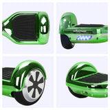 "Skque® 6.5"" Two Wheel Smart Self Balancing Electric Scooter with LED Lights, Green"