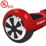 "Skque® 6.5"" Two Wheel Smart Self Balancing Electric Scooter with LED Lights, Red"