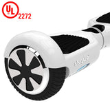 "Skque® 6.5"" Two Wheel Smart Self Balancing Electric Scooter with LED Lights, White"