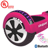 "Skque® 6.5"" UL2272 Two Wheel Smart Self Balancing Electric Scooter with Bluetooth Speaker and LED Lights"