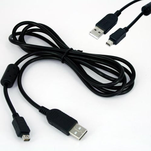 Skque Olympus CB-USB5 / USB6 Compatible USB Data Cable w/ Ferrite, Black