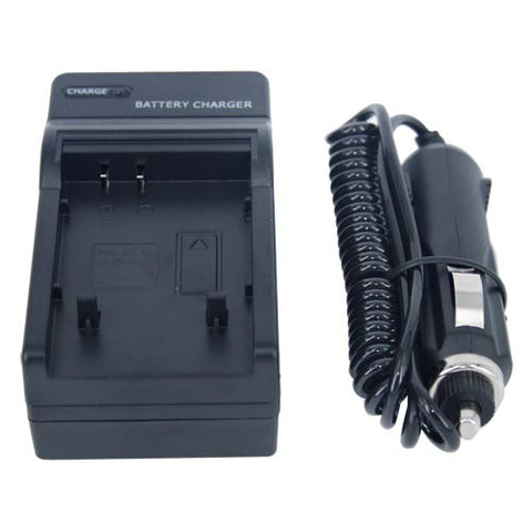 Skque Premium Battery Charger with Car Charger Adapter for Olympus LI-50B Digital Camera & Camcorder