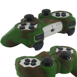 Skque Silicone Soft Protective Case Cover for Sony PlayStation 3 Controller, Camo Pattern, Brown, Green