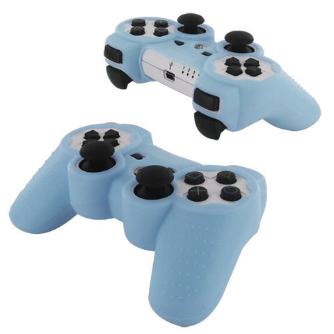 Skque Silicone Soft Case Cover for Sony PlayStation 3 Controller, Light Blue