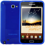 Skque Blue TPU Gel Case Cover for Samsung Galaxy Note GT-N7000 i9220