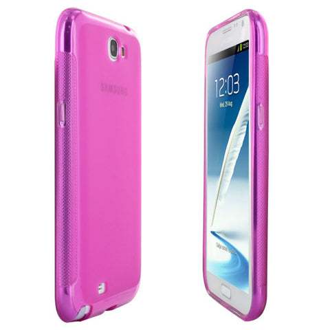 Skque Soft TPU Gel Case Cover for Samsung Galaxy Note 2 N7100, pink