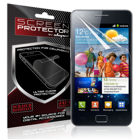 Galaxy S2 Screen Protector,Skque® clear Screen Protector for Samsung Galaxy S II i9100