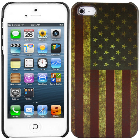 Skque?Vintage US Flag Pattern PC Protector Back Case Cover for Apple iPhone 5/5S