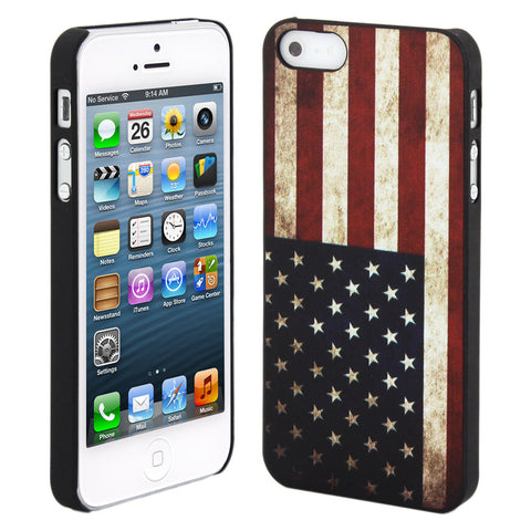 Skque® Vintage US Flag Pattern PC Protector Back Case Cover for Apple iPhone 5/5S