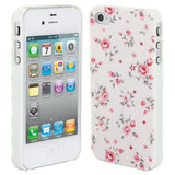 Skque®Chic Floral Flower Protective Hard Back Case Cover for Apple iPhone 4/4S(Design 12)
