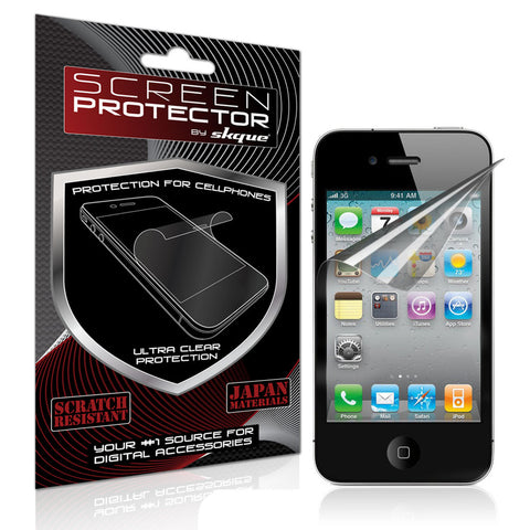iPhone 4 Screen protector,Skque®Anti Scratch Mirror LCD Screen Protector Cover Guards for Apple iPhone 4/4S