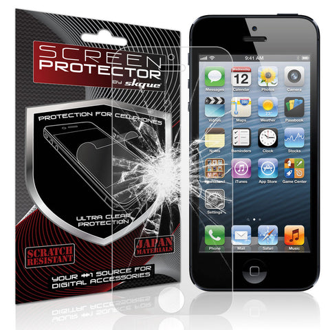 iPhone 5/5S Screen protector,Skque®  Tempered Glass Screen Protector Cover Film For Apple iPhone 5/5S