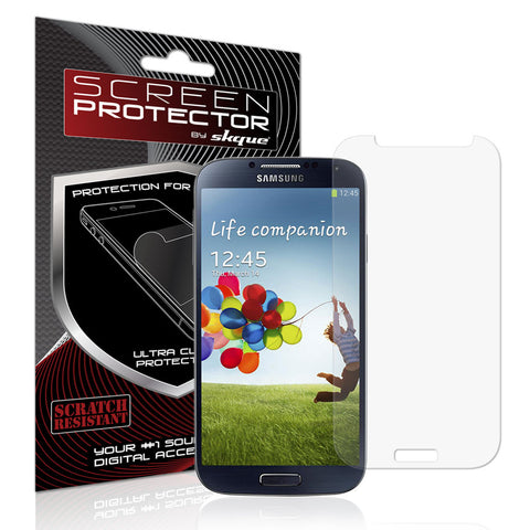 Galaxy S4 Screen Protector,Skque® Premium Ballistic Slim Tempered Glass Film Screen Protector for Samsung Galaxy S4 I9500(9H Hardness 0.26mm Thin)