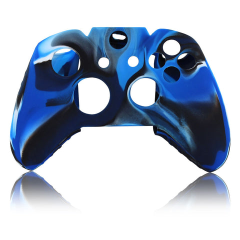 Skque® Soft Silicone Camouflage Skin Case Cover for Microsoft Xbox One Controller, Blue & Black
