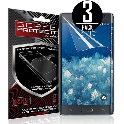 Galaxy Note Edge Screen Protector, [Edge Not Covered] Skque® Diamond Screen Protector for Samsung Galaxy Note Edge, 3 Packs