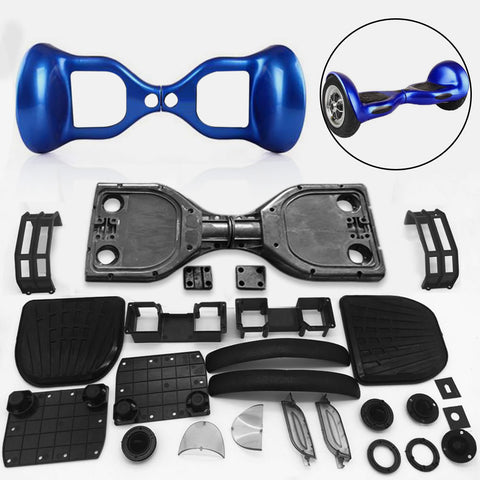 "Scooter Assembly Kit, Skque® 10"" Self Balancing Electronic Scooter Frame and Casing Assembly, Blue"