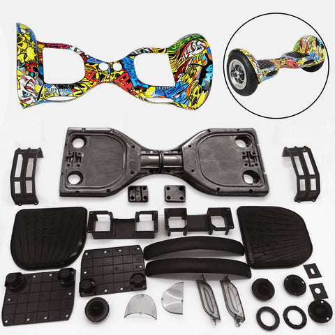 "Scooter Assembly Kit, Skque® 10"" Self Balancing Electronic Scooter Frame and Casing Assembly, Graffiti"