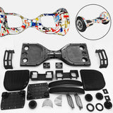 "Scooter Assembly Kit, Skque® 10"" Self Balancing Electronic Scooter Frame and Casing Assembly, Paint Splatter"