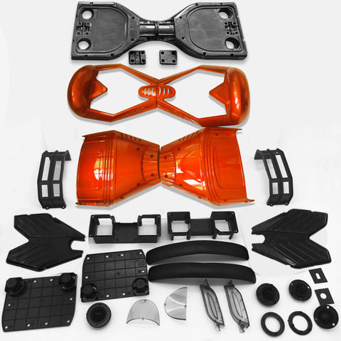 "Scooter Assembly Kit, Skque® 6.5"" New Self Balancing Electronic Scooter Frame and Casing Assembly, Orange"