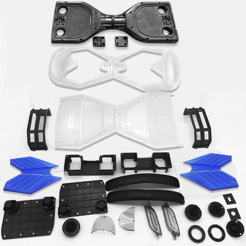 "Scooter Assembly Kit, Skque® 6.5"" New Self Balancing Electronic Scooter Frame and Casing Assembly, White"