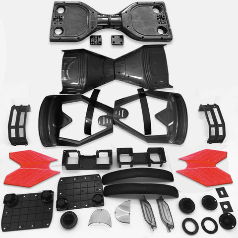 "Scooter Assembly Kit, Skque® 6.5"" New Self Balancing Electronic Scooter Side LED Frame and Casing Assembly, Black"