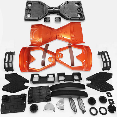 "Scooter Assembly Kit, Skque® 6.5"" New Self Balancing Electronic Scooter Side LED Frame and Casing Assembly, Orange"