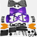 "Scooter Assembly Kit, Skque® 6.5"" New Self Balancing Electronic Scooter Side LED Frame and Casing Assembly, Purple"