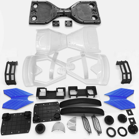 "Scooter Assembly Kit, Skque® 6.5"" New Self Balancing Electronic Scooter Side LED Frame and Casing Assembly, White"