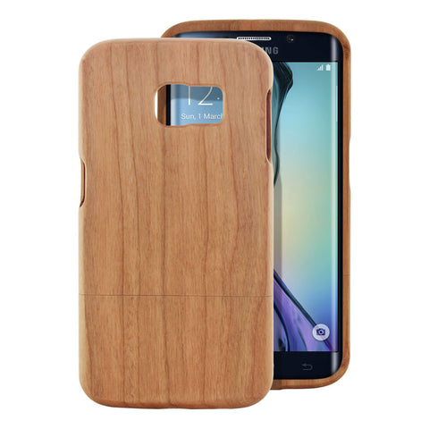 Skque® Handmade Natural Wooden Case for Samsung Galaxy S6 Edge, Sakuragi