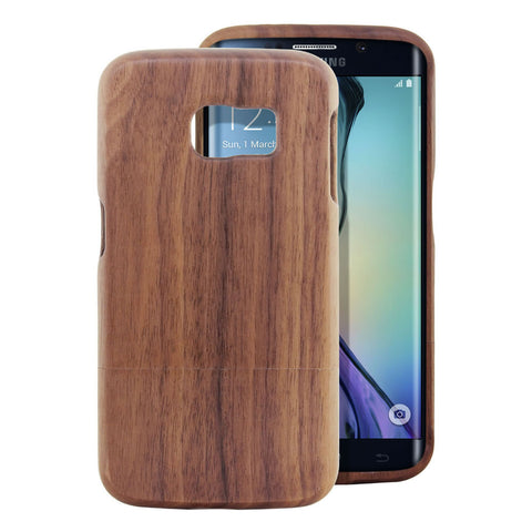 Skque® Handmade Natural Wooden Case for Samsung Galaxy S6 Edge, Hu Wood