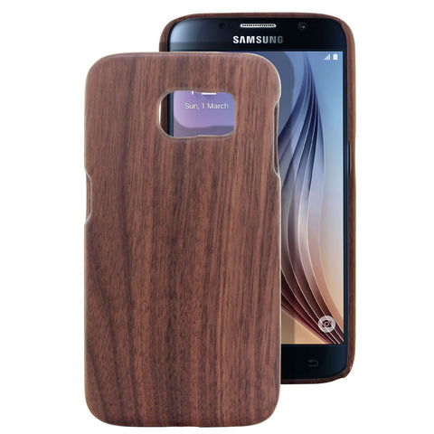 Skque® Handmade Natural Wooden Case for Samsung Galaxy S6, Hu Wood
